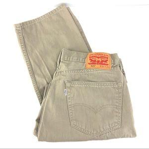 Levi's 505 Khaki Straight Leg Size 34x30